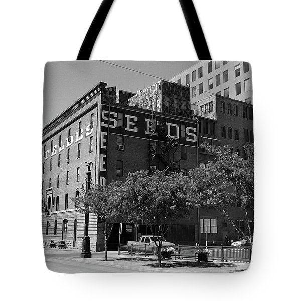 Denver Downtown Warehouse Bw Tote Bag by Frank Romeo