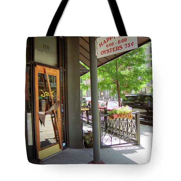 Denver Happy Hour Tote Bag by Frank Romeo