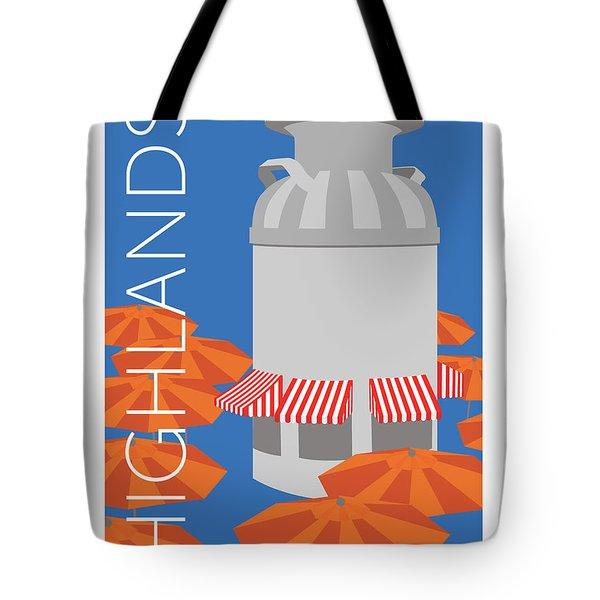 Denver Highlands/blue Tote Bag