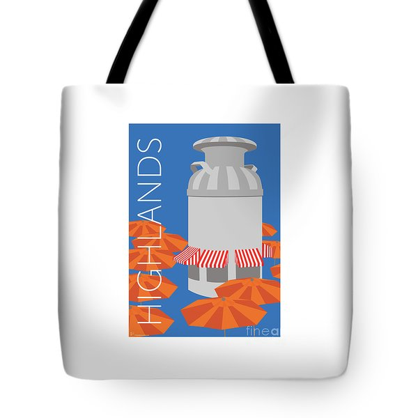 Tote Bag featuring the digital art Denver Highlands/blue by Sam Brennan
