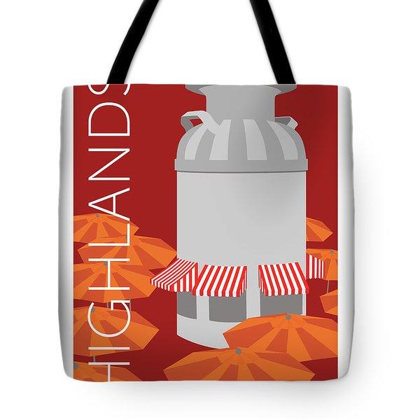 Denver Highlands/maroon Tote Bag