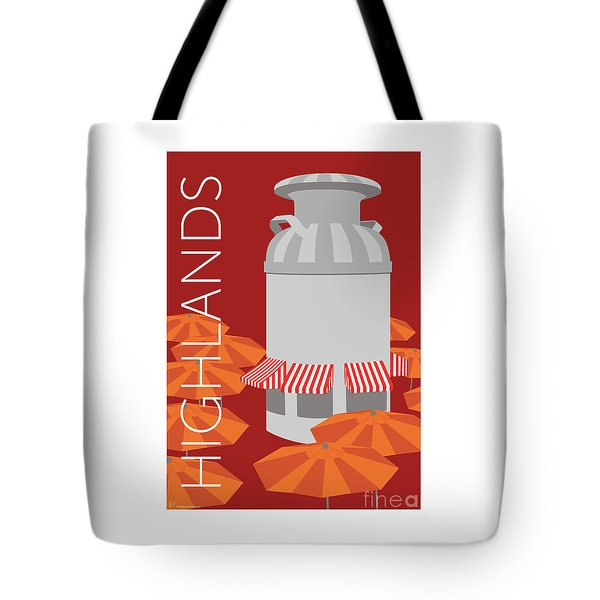 Tote Bag featuring the digital art Denver Highlands/maroon by Sam Brennan