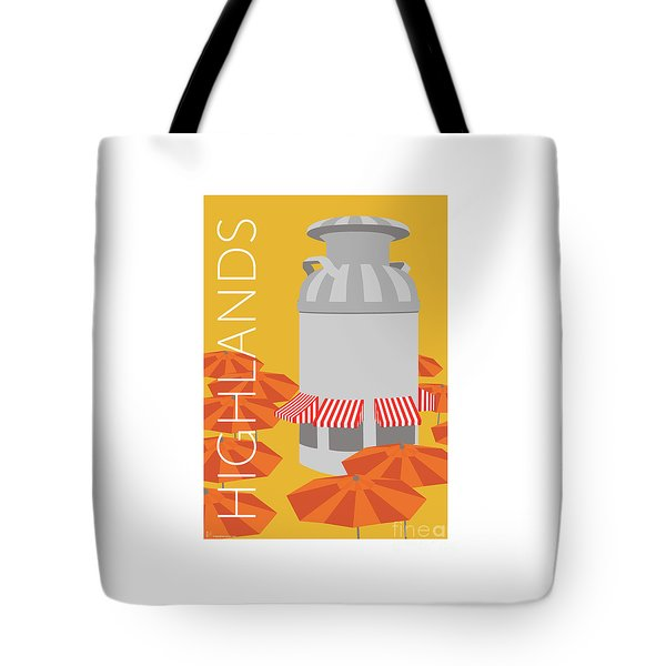Tote Bag featuring the digital art Denver Highlands/gold by Sam Brennan