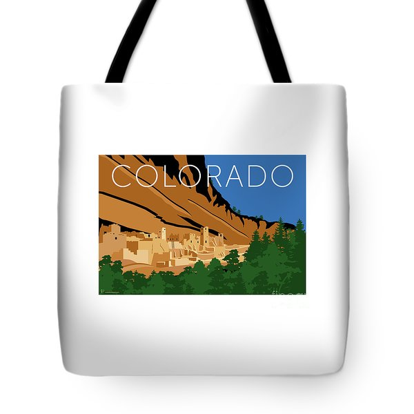 Tote Bag featuring the digital art Mesa Verde Blue by Sam Brennan