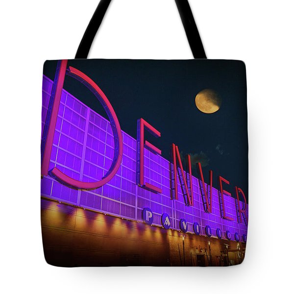 Denver Pavilion At Night Tote Bag