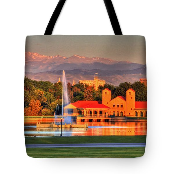 Denver Skyline Tote Bag by Scott Mahon