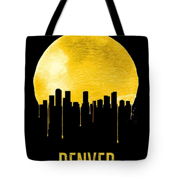 Denver Skyline Yellow Tote Bag