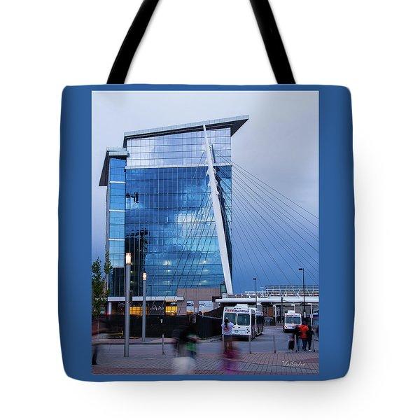Denver Union Station And Milennium Bridge Tote Bag