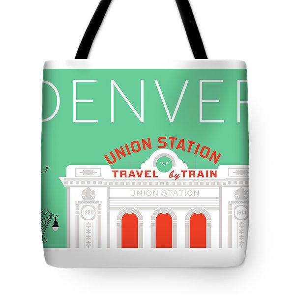 Denver Union Station/aqua Tote Bag