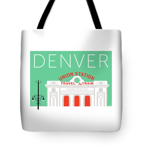 Denver Union Station/aqua Tote Bag