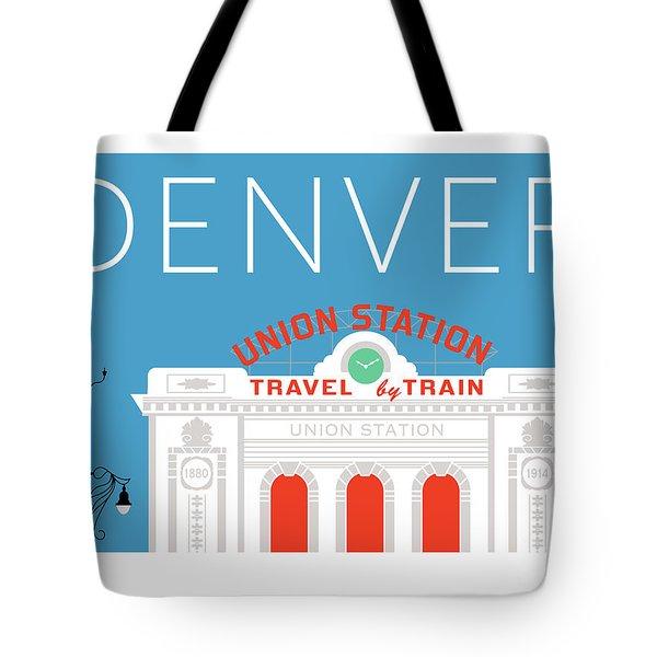 Denver Union Station/blue Tote Bag