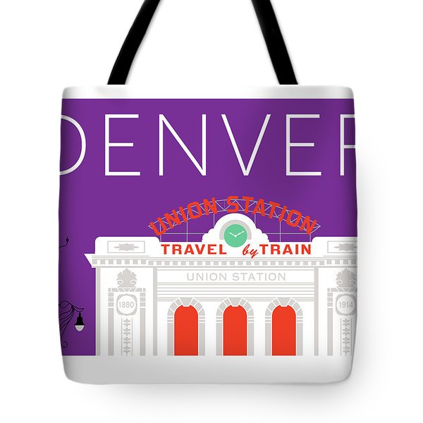 Denver Union Station/purple Tote Bag