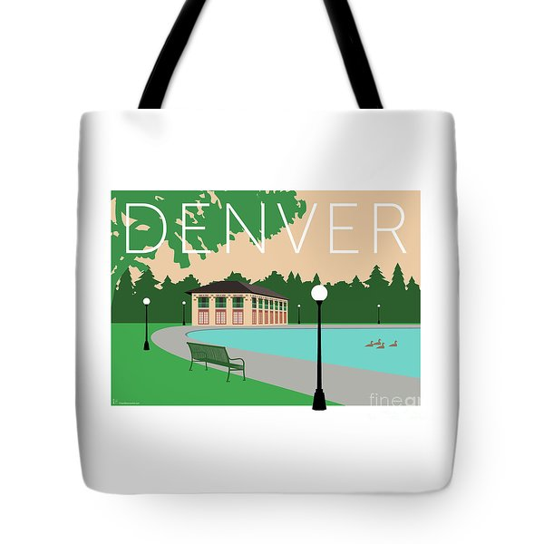 Tote Bag featuring the digital art Denver Washington Park/beige by Sam Brennan