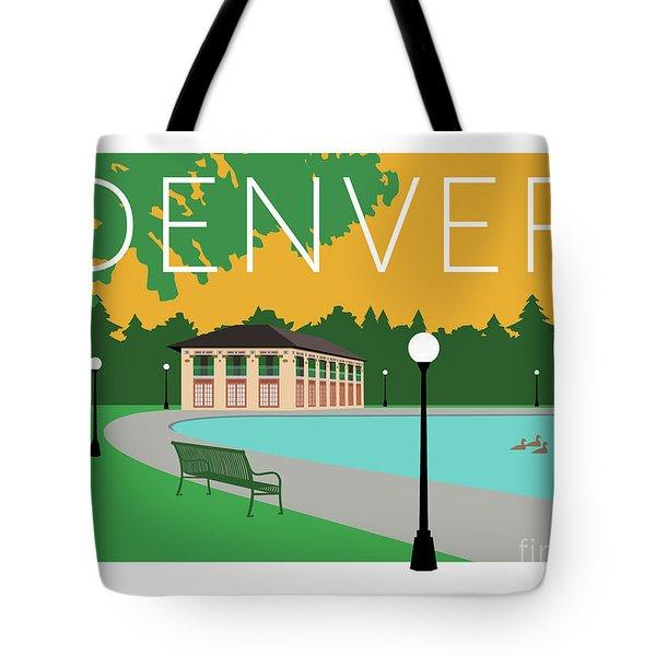 Denver Washington Park/gold Tote Bag