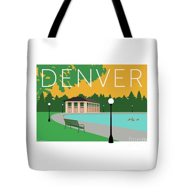 Tote Bag featuring the digital art Denver Washington Park/gold by Sam Brennan