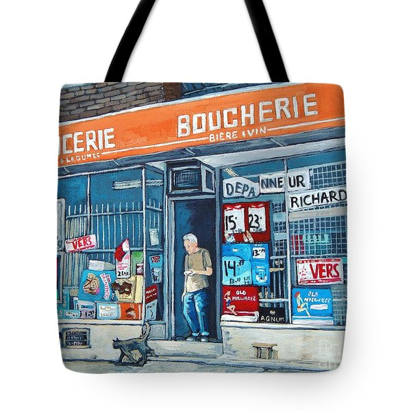 Depanneur Richard Tote Bag
