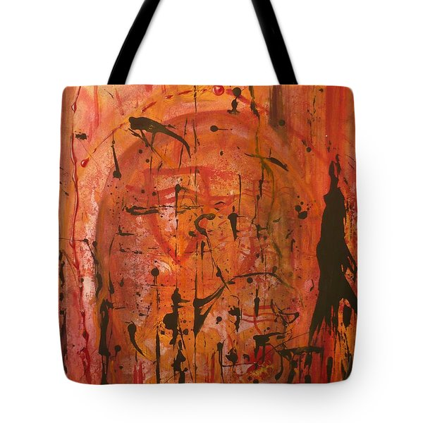 Departing Abstract Tote Bag