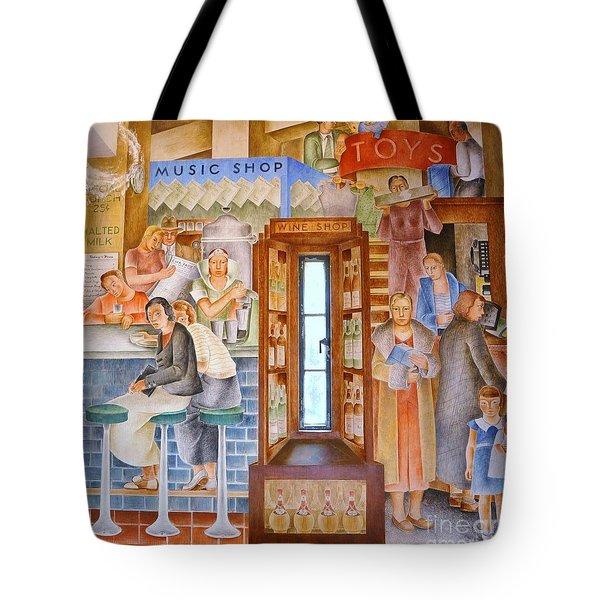 Department  Store Tote Bag by Pg Reproductions