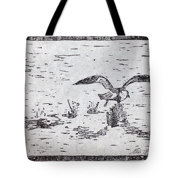 Departure Woodcut  Tote Bag