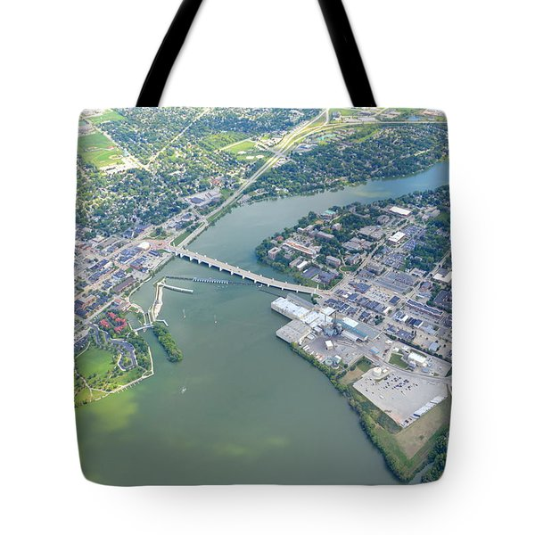 Tote Bag featuring the photograph Depere 2 by Bill Lang
