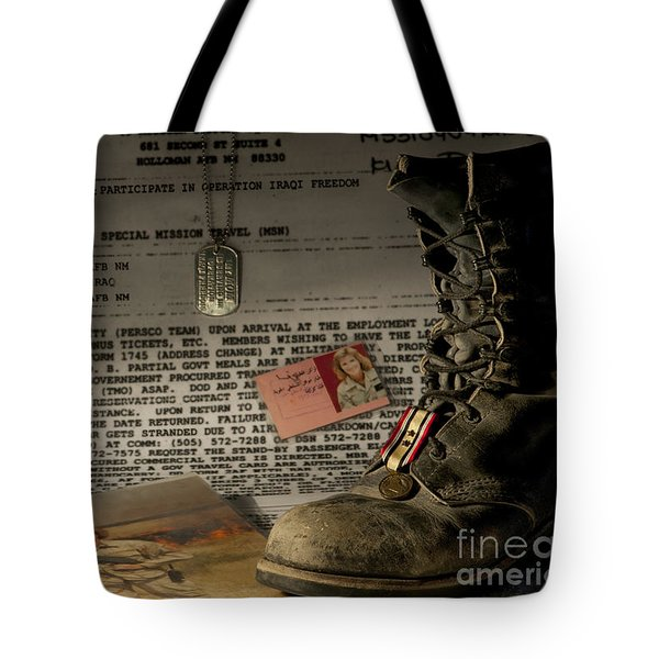 Tote Bag featuring the photograph Deployment by Melany Sarafis