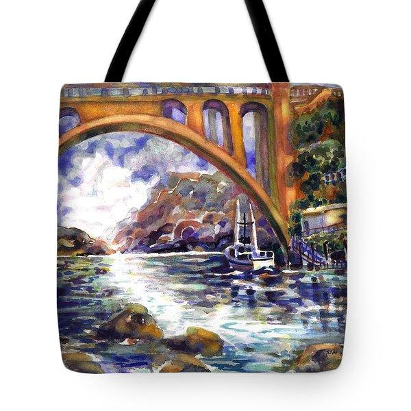 Depoe Bay Bridge Tote Bag