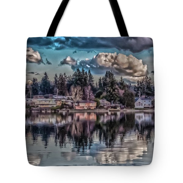Tote Bag featuring the digital art Depot 8 by Timothy Latta