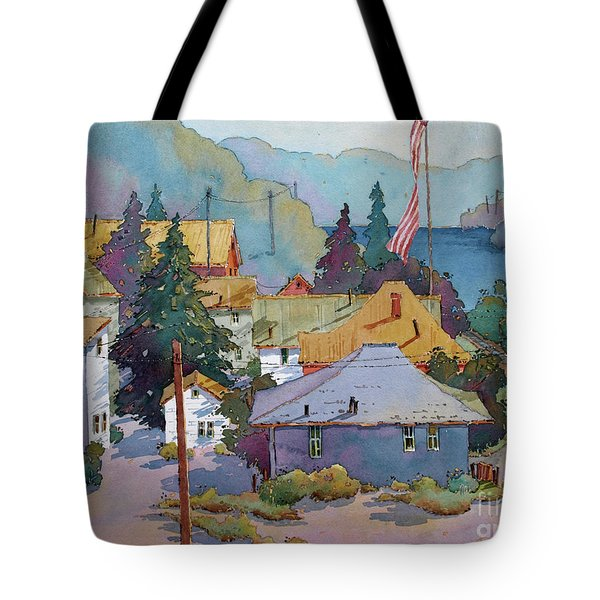 Depot By The River Tote Bag