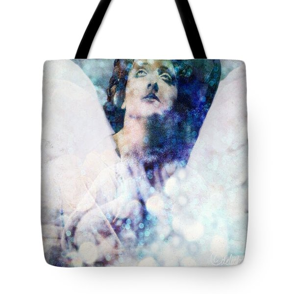 Tote Bag featuring the digital art Depression Angel by Delight Worthyn