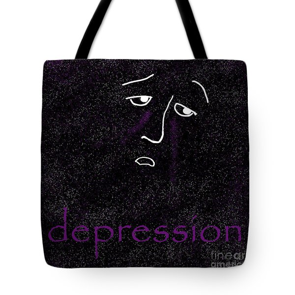 Depression Tote Bag by Methune Hively