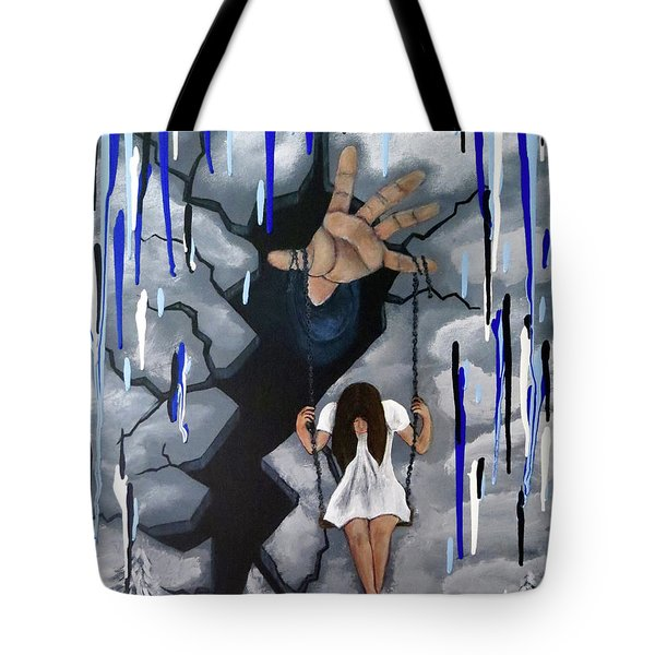 Tote Bag featuring the painting Depression by Teresa Wing