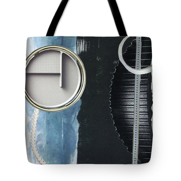 Tote Bag featuring the painting Depth Onto Space by Michal Mitak Mahgerefteh