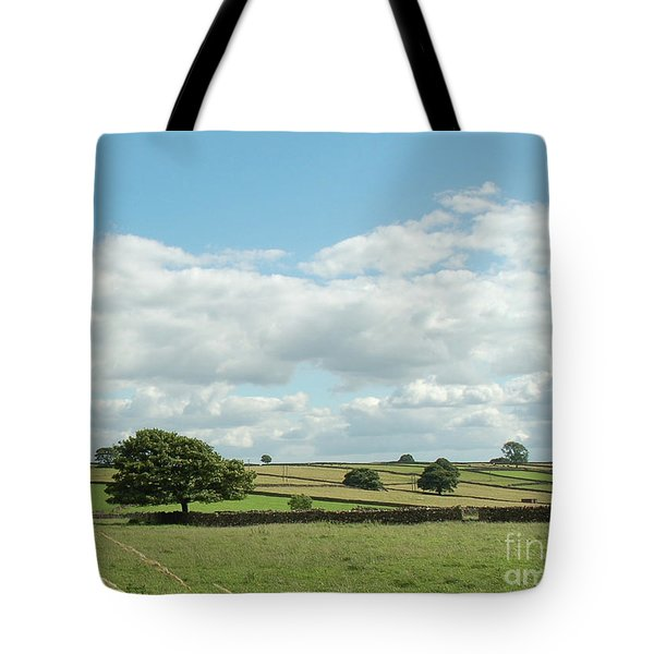 Derbyshire Landscape Tote Bag by Mini Arora