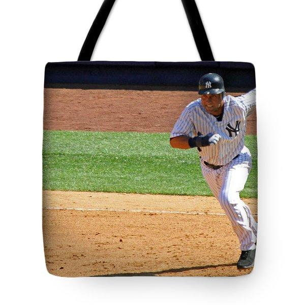 Derek Jeter Tote Bag by Mitch Cat