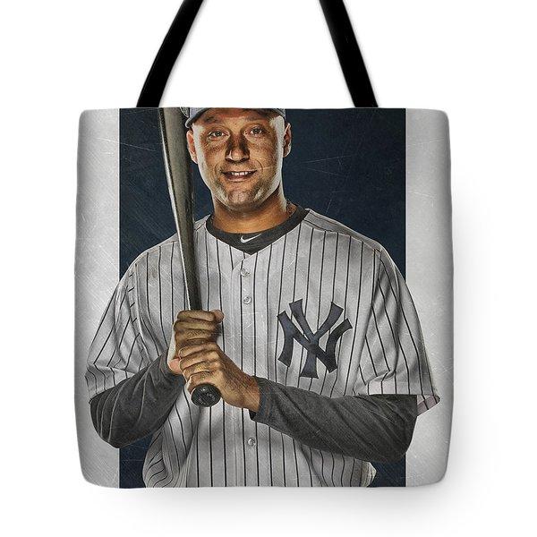 Derek Jeter New York Yankees Art Tote Bag