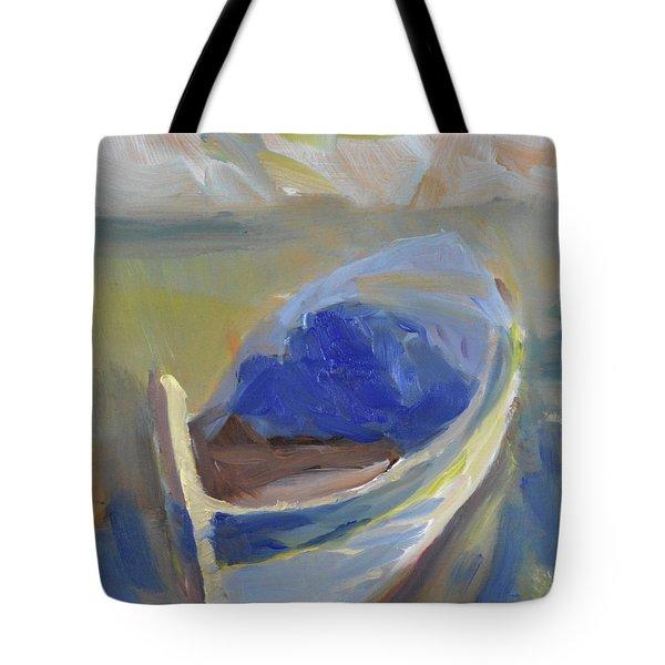 Derek's Boat. Tote Bag by Julie Todd-Cundiff
