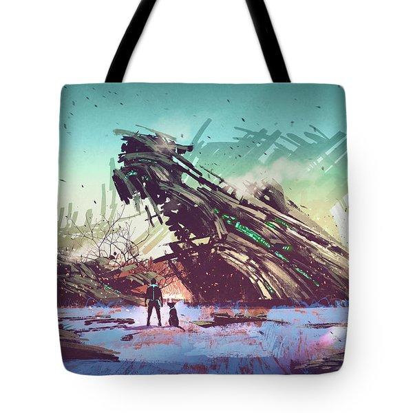 Derelict Ship Tote Bag