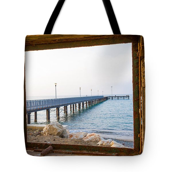 Derelict Window And Pier Tote Bag
