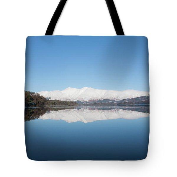 Derwentwater Winter Reflection Tote Bag