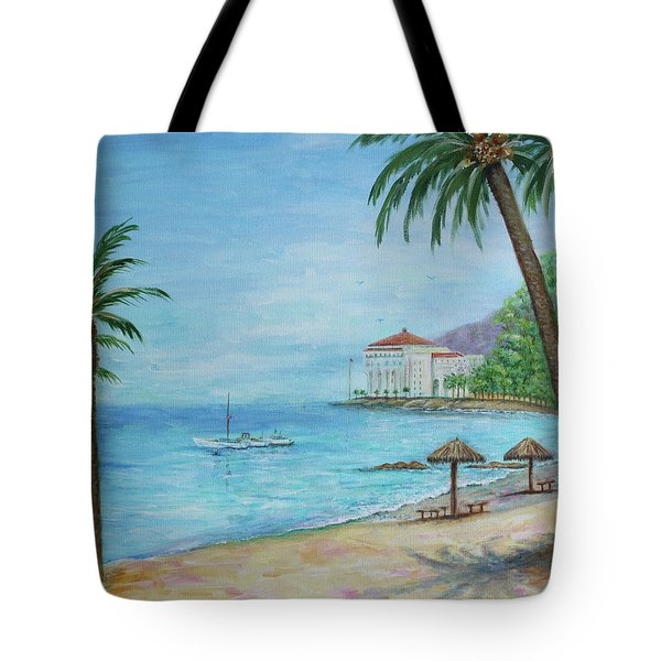 Descanso Beach, Catalina Tote Bag