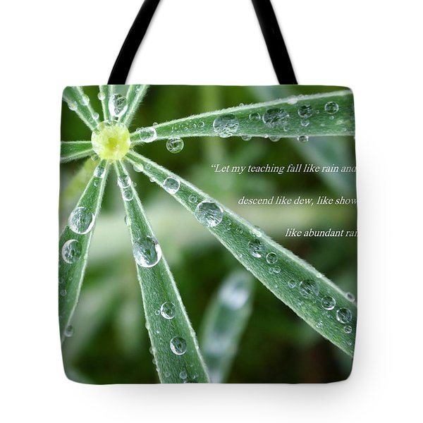 Descending Words Like Dew Tote Bag