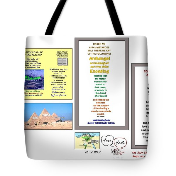 Desecr8ed Tote Bag by Peter Hedding