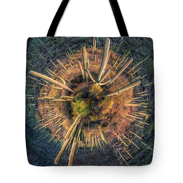 Tote Bag featuring the photograph Desert Big Bang by Lynn Geoffroy