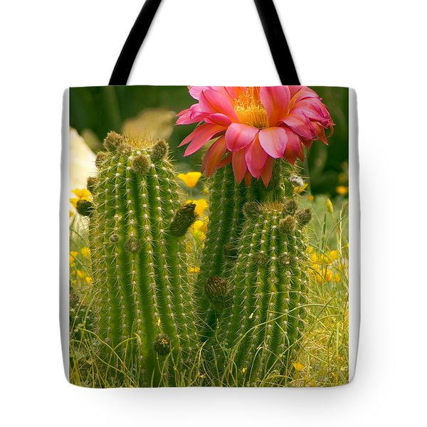 Tote Bag featuring the photograph Desert Bloom by R Thomas Berner