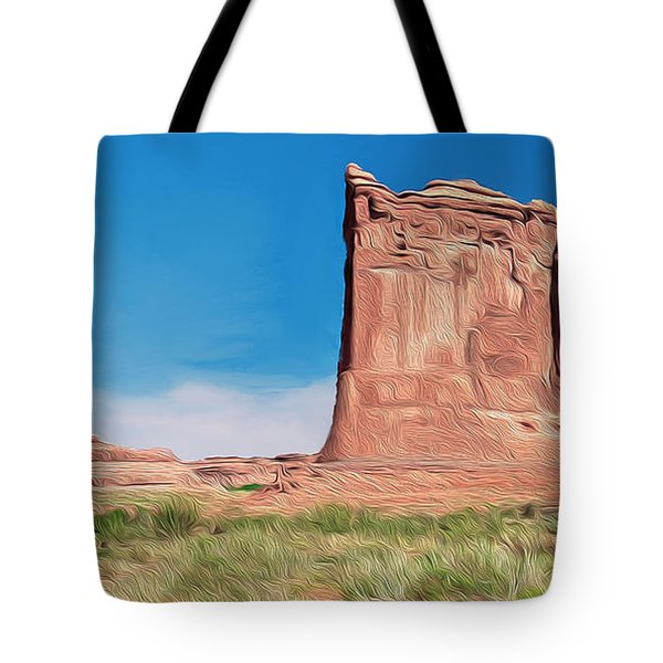 desert Butte Tote Bag by Walter Colvin