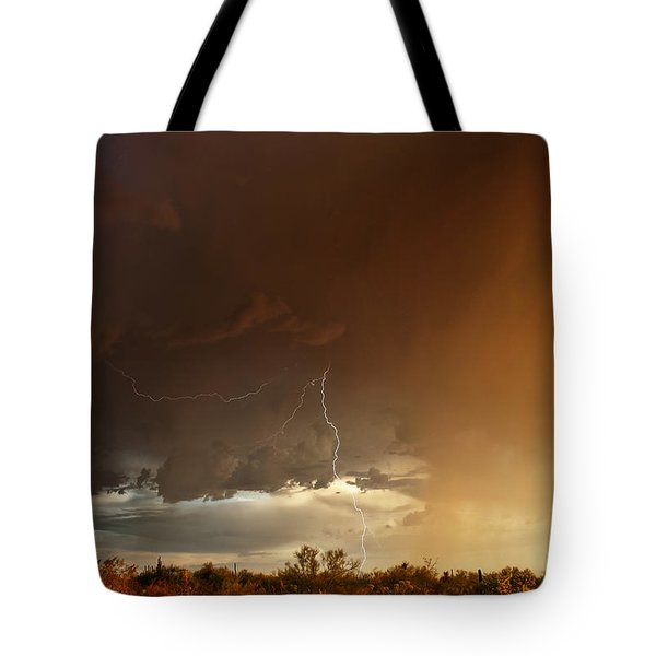 Desert Fire Tote Bag by James Menzies
