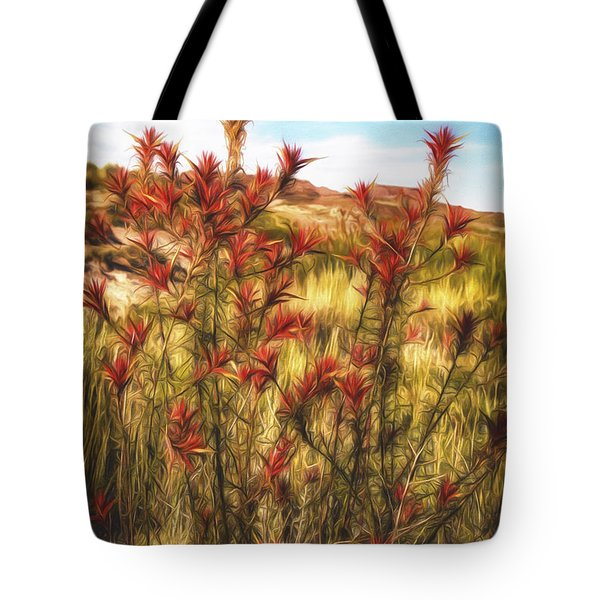 Tote Bag featuring the photograph Desert Flora  ... by Chuck Caramella