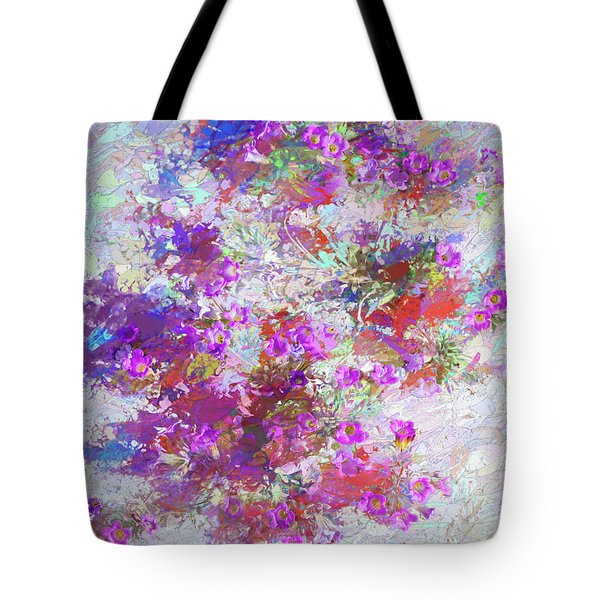 Tote Bag featuring the painting Desert Flowers Abstract 3 by Penny Lisowski