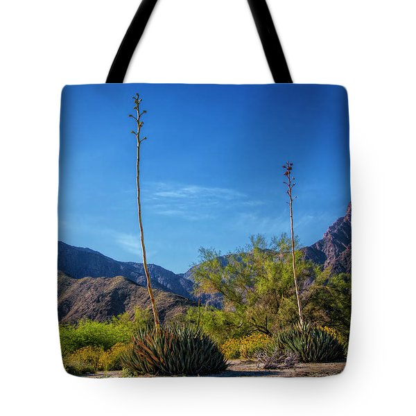 Tote Bag featuring the photograph Desert Flowers In The Anza-borrego Desert State Park by Randall Nyhof