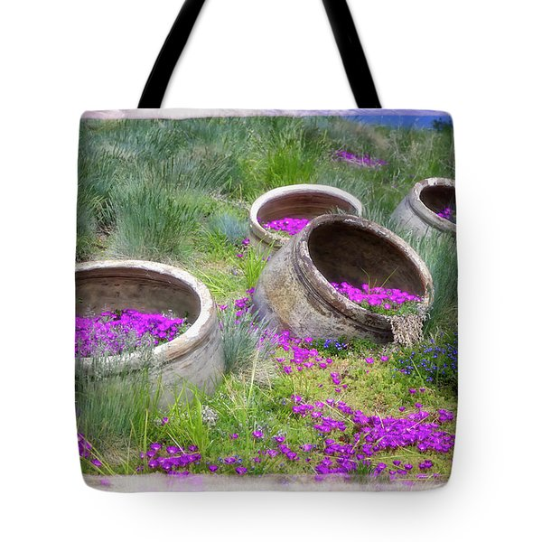 Desert Flowers Tote Bag by Joan Carroll